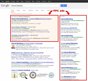 PPC search ads example